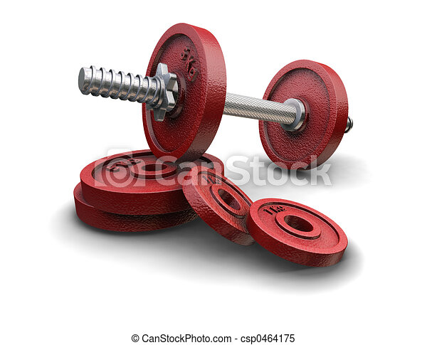Weight lifting weights - csp0464175