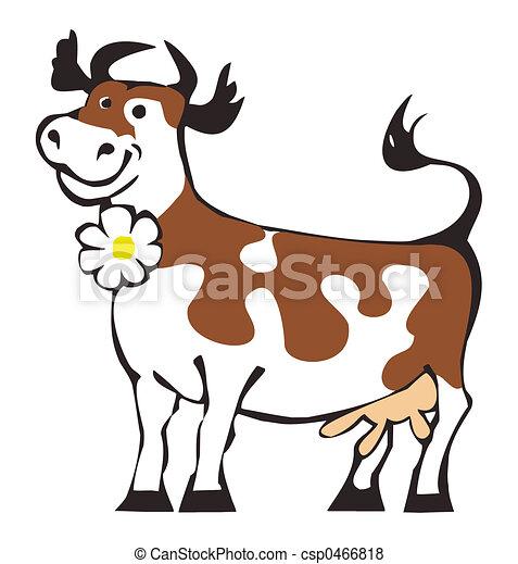 Illustration de vache heureux dessin anim de heureux vache csp0466818 recherchez des - Vache normande dessin ...