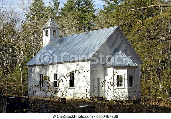 Cades Cove - Church - csp0467768