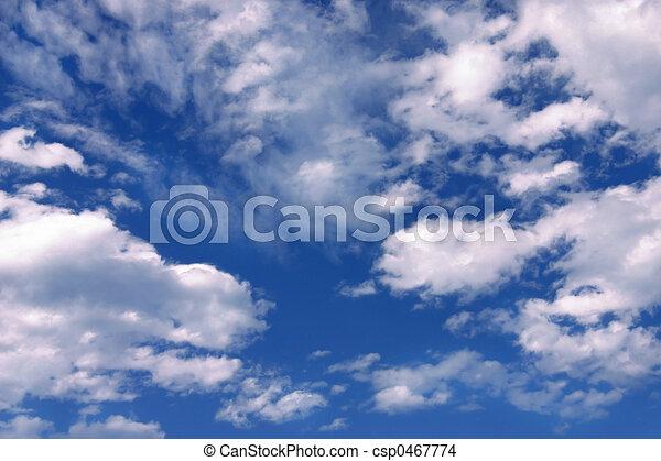 bleu, cloudsblue, ciel, nuages, & - csp0467774