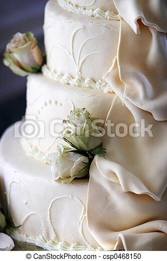 torta, dettaglio, matrimonio - csp0468150