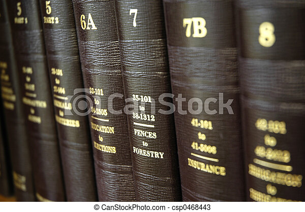 Law Books - csp0468443