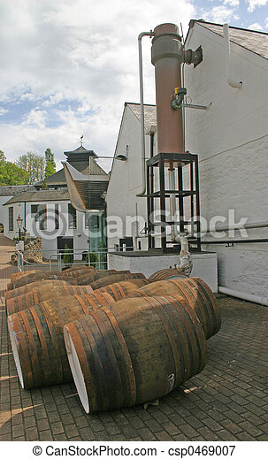 Whiskey Distillery in Scotland - csp0469007