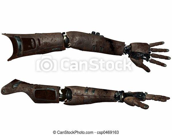 Cyber Arm-Rusty Meta - csp0469163