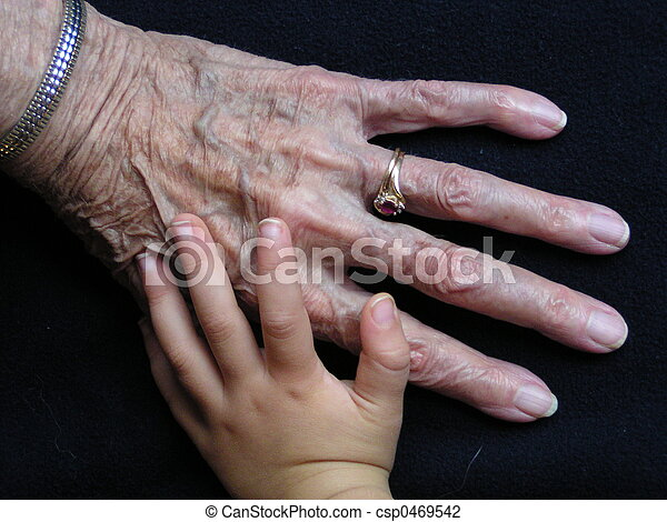 Great Grandmas Hands - csp0469542