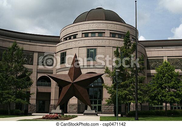 estado, Museu,  Texas, história - csp0471142