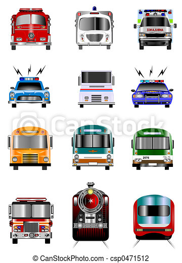 Transportation icons - csp0471512