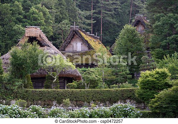 Japanese village  - csp0472257