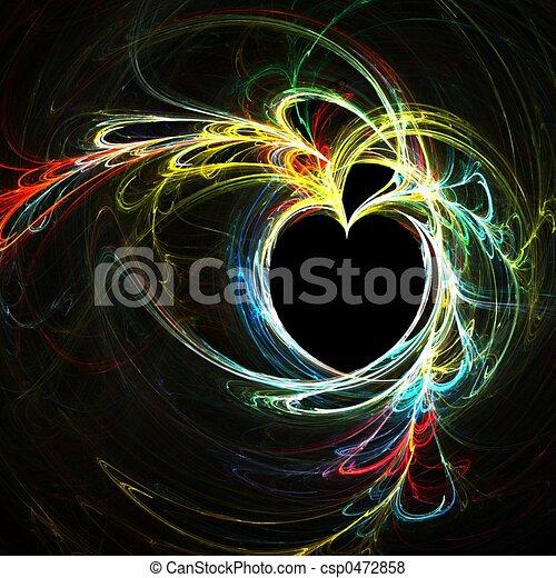 Rainbow heart - csp0472858