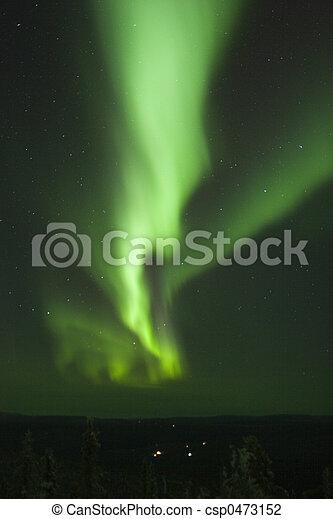 Vertical Aurora Borealis stripe - csp0473152