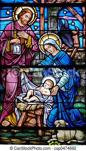 1800\\\'s Nativity - csp0474692