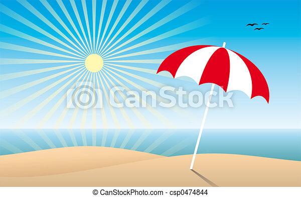 Sunny beach - csp0474844