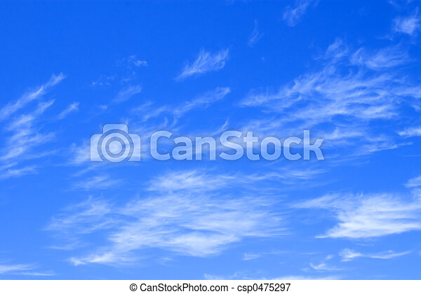 Blue Sky with Delicate Clouds - csp0475297