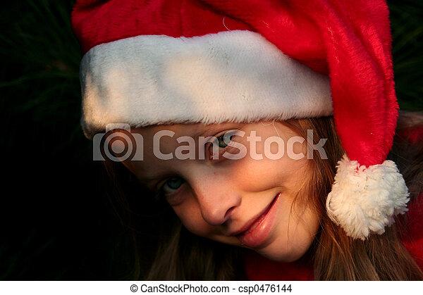 Christmas girl - csp0476144