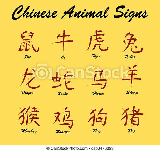 Chinese Animal Signs - csp0476893