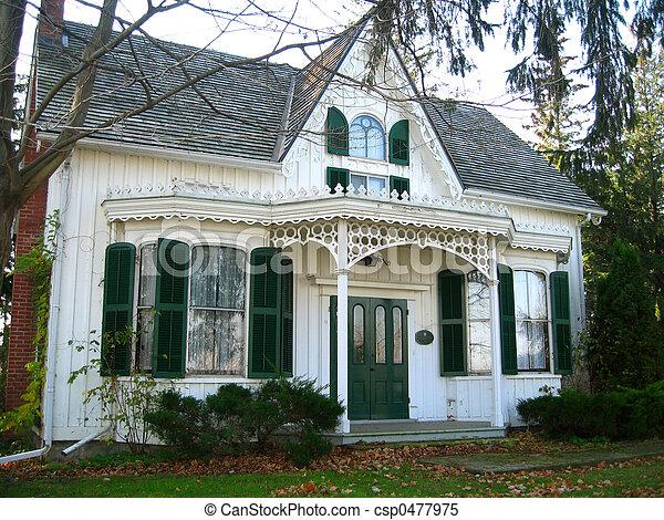 stock bilder von erland lee historica altes haus mit giebel front csp0477975. Black Bedroom Furniture Sets. Home Design Ideas