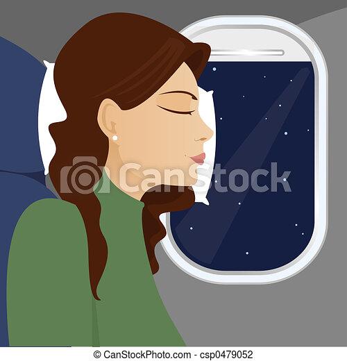 Plane Window Drawing Stock Illustration Window