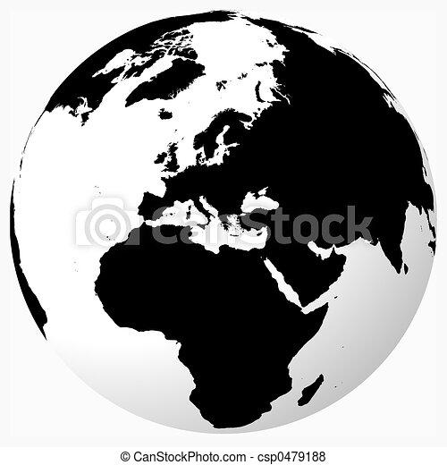 Archivio illustrazioni di mondo bianco nero nero for Mappa mondo bianco e nero