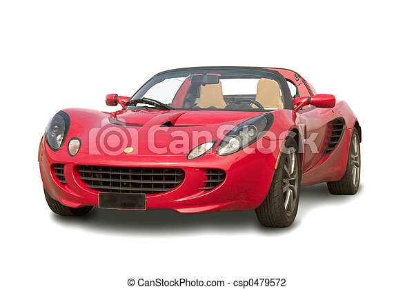 red sport car - csp0479572