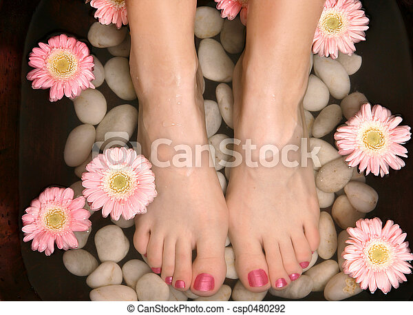 Aromatic relaxing foot bath pedispa - csp0480292