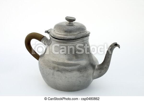 Pewter teapot - csp0480862