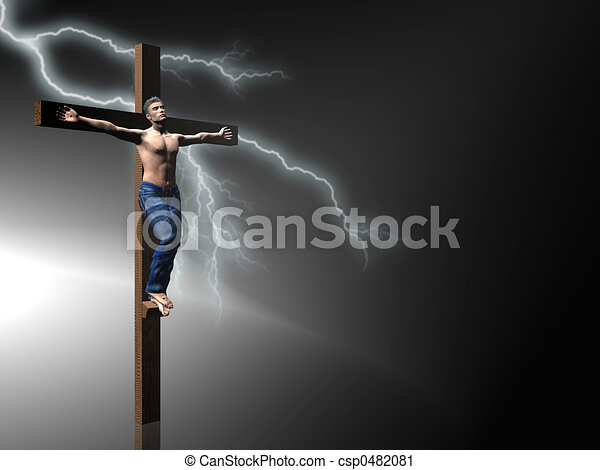 Crucifixion, easter, faith. - csp0482081