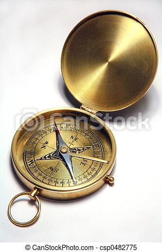 Antique compass - csp0482775