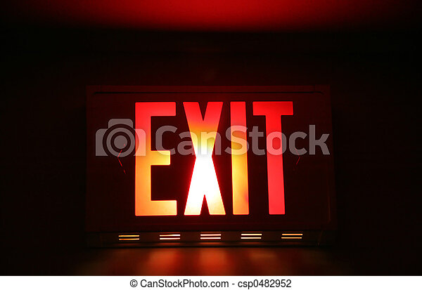 Emergency Exit Sign - csp0482952
