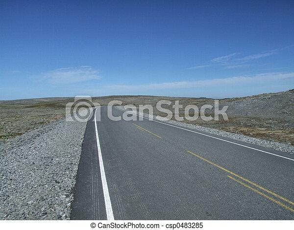Empty straight road