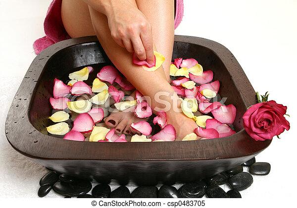 Relaxing Foot spa - csp0483705