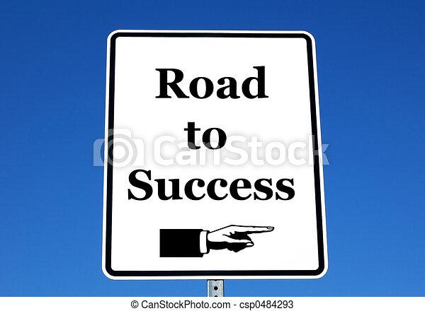 Road to Success - csp0484293