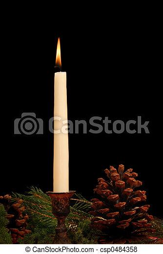 Seasonal Candle - csp0484358