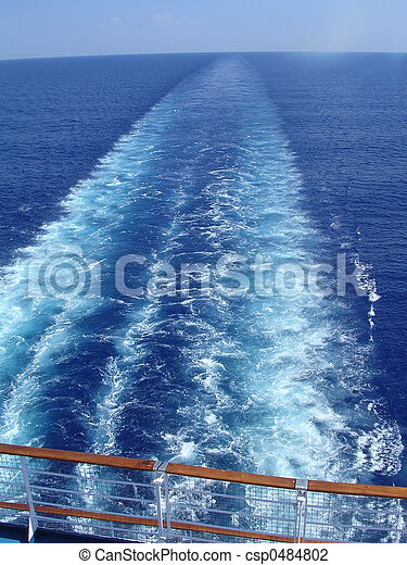 Cruise ship wake - csp0484802