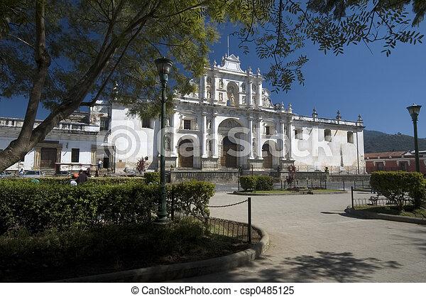 cathedral san jose antigua guatemala - csp0485125