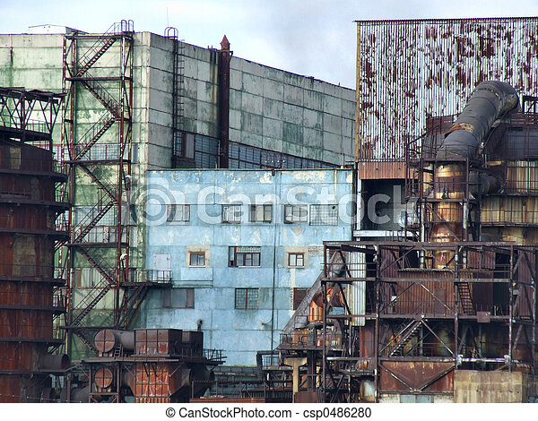 Obsolete factory buildings - csp0486280