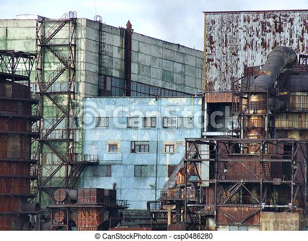 Obsolete factory buildings - csp0486280