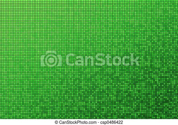 mönster, grön, mosaik - csp0486422