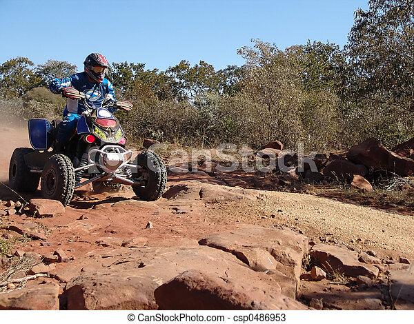 quad motorcycle racing - csp0486953