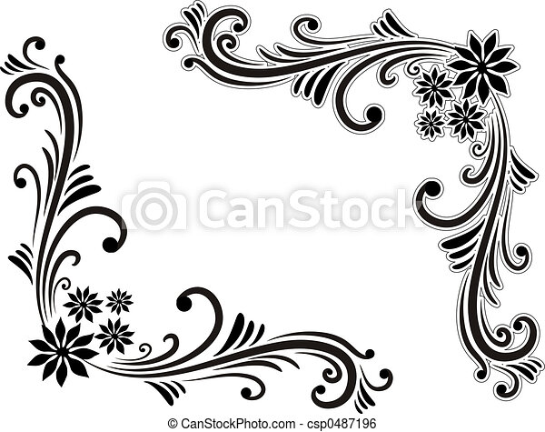 Stock illustration of corner decoration hand drawn for Decoration drawing