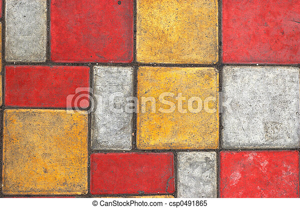 Colored paving slab texture #2 - csp0491865