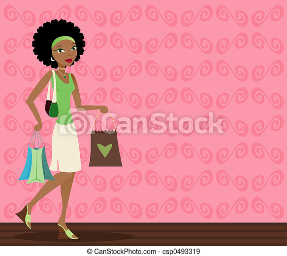 African-American Shopper - csp0493319