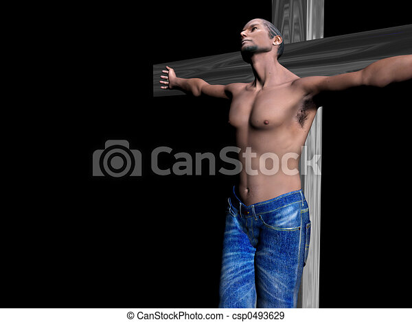 Crucifixion, easter, faith. - csp0493629