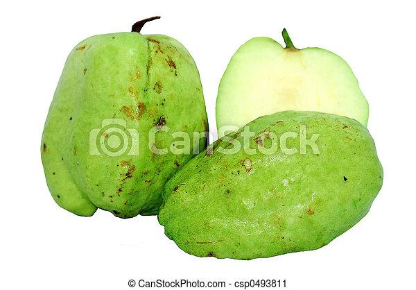 stock fotografie von seedless guave freigestellt wei es csp0493811 suchen sie stock fotos. Black Bedroom Furniture Sets. Home Design Ideas