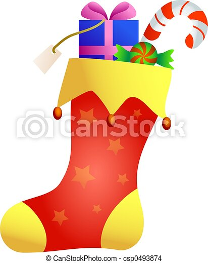 christmas stocking - csp0493874