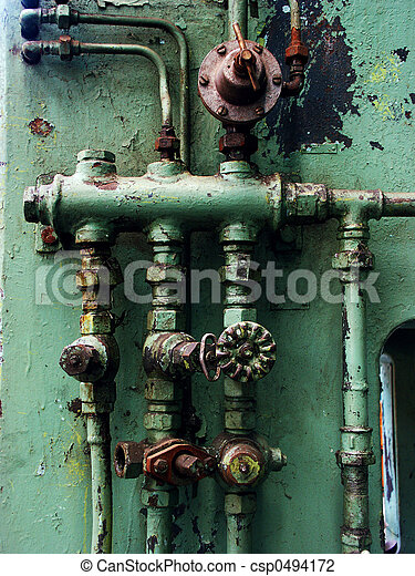 Rusty pipes and valves - csp0494172