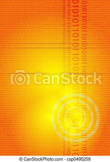 digital glow orange - csp0495209
