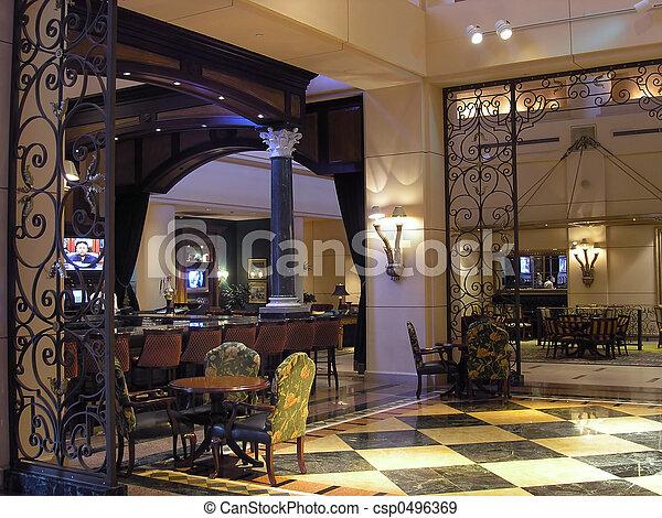 Luxury Hotel restaurant 2 - csp0496369