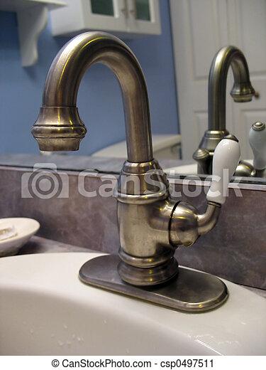 brushed nickel faucet - csp0497511