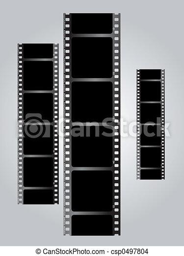 white film triple v gradient - csp0497804
