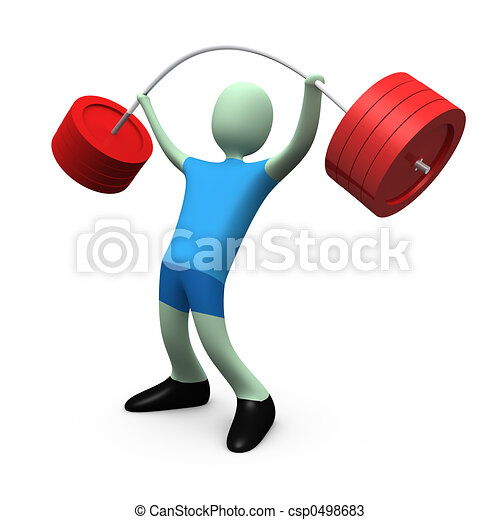 Sports - Weight-lifting #4 - csp0498683